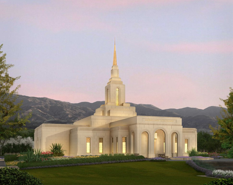 (Rendering courtesy of The Church of Jesus Christ of Latter-day Saints) A rendering of the Mendoza Argentina Temple.