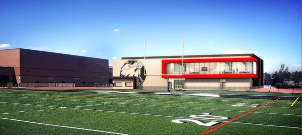 (Courtesy of Canyons School District) An artist's rendering of the new fieldhouse which will go in at Alta High when the school undergoes a major renovation as part of Canyon School District's $283 million bond.