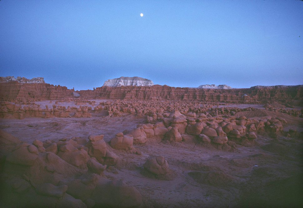 (Al Hartmann | Tribune file photo) The moon rises over Goblin Valley State Park, which is to expand by 6,200 acres under a public lands bill designating wilderness and a monument in Emery County.