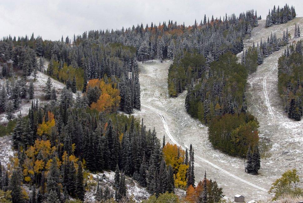 (Rick Egan | Tribune file photo) Snow on the trees at Powder Mountain ski resort, Wednesday, Sept. 25, 2013.