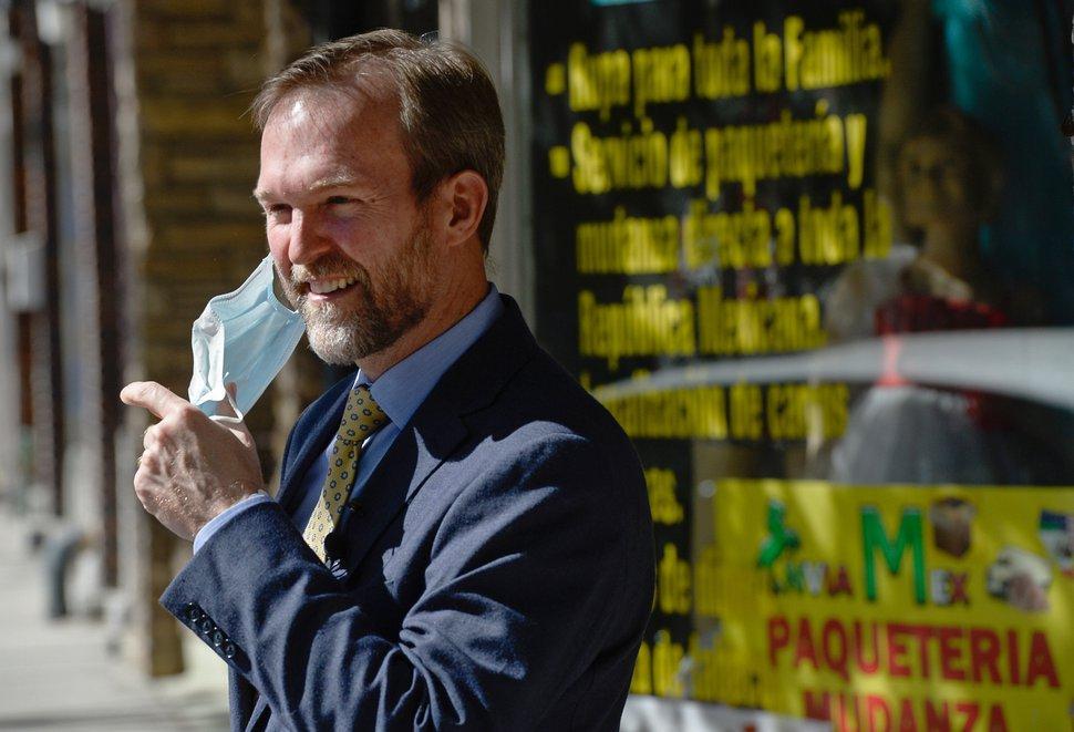 (Francisco Kjolseth | Tribune file photo) Congressman Ben McAdams, D-Utah, holds a press conference on Midvale City's Main Street amongst shuttered businesses on Wednesday, April 29, 2020.