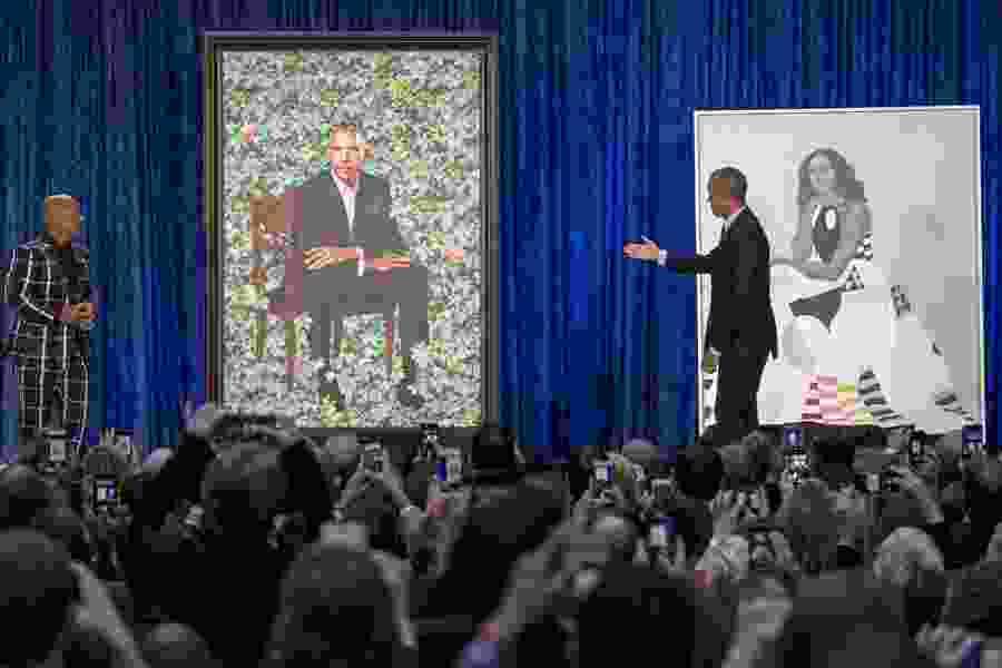 National Portrait Gallery unveils Obama portraits