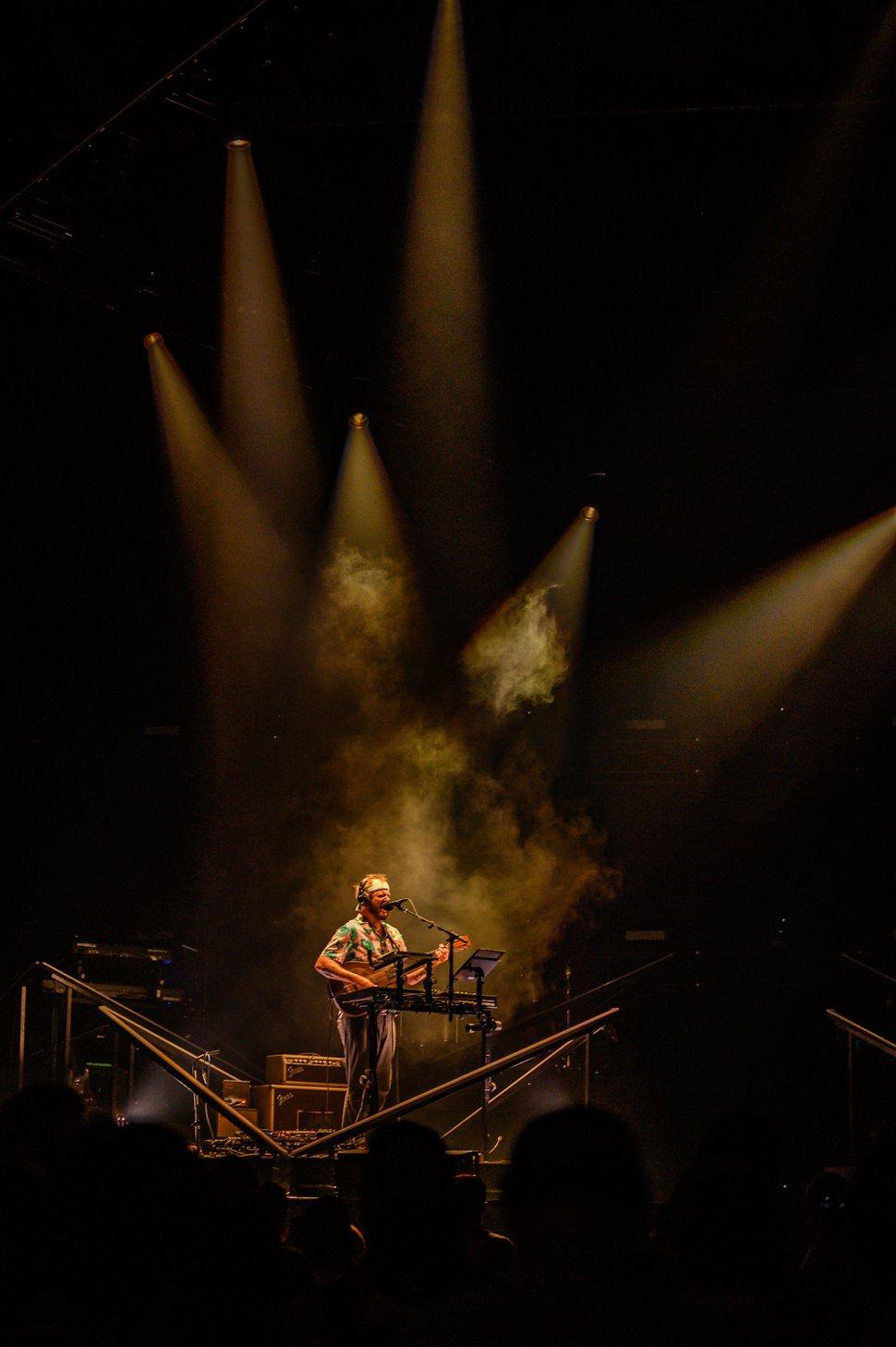(Photo courtesy of Graham Tolbert) Bon Iver, headed by singer-songwriter Justin Vernon, performs Wednesday night at the Maverik Center.