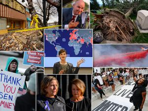 (Francisco Kjolseth  |  The Salt Lake Tribune) It has been a tumultuous 2020 with a magnitude 5.7 earthquake shaking the Salt Lake Valley, hurricane-force winds toppling thousands of trees, raging wildfires forcing record evacuations, protests against racism and police violence snaking through city streets and, of course, the coronavirus casting a pall over everything. Along the way, Spencer Cox will become Utah's first new governor in more than a decade, Mitt Romney made history with his vote to oust a president from his own party, and the parents of slain student athlete Lauren McCluskey settled their lawsuit with the University of Utah.