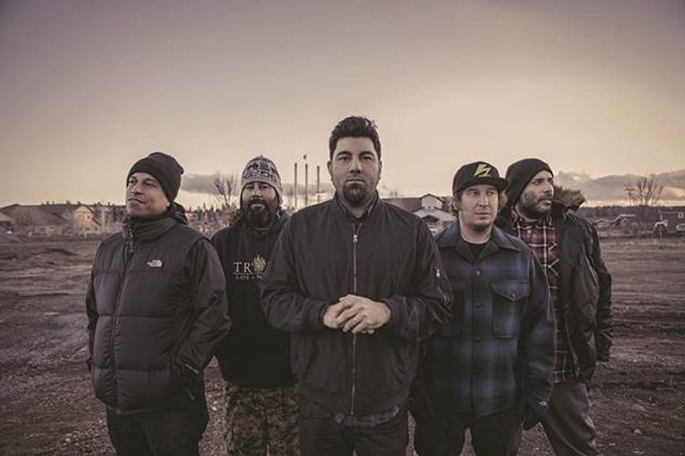 Courtesy photo Deftones, with drummer Abe Cunningham second from right
