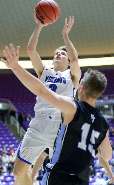 (Leah Hogsten | The Salt Lake Tribune) Pleasant Grove's Casey Brown (03) had 18 points and 7 rebounds. Pleasant Grove defeated West Jordan 62-54 in the 6A High School Boys' Basketball Tournament opening game at Weber State University's Dee Events Center in Ogden, Tuesday, Feb. 27, 2018.