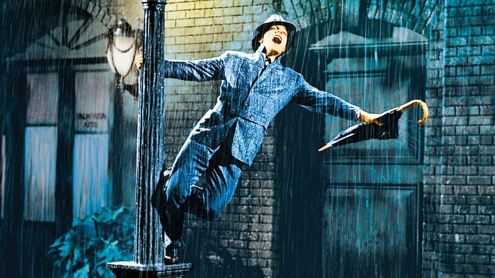 (courtesy MGM) Gene Kelly plays a Hollywood actor enjoying a California downpour in the 1952 musical