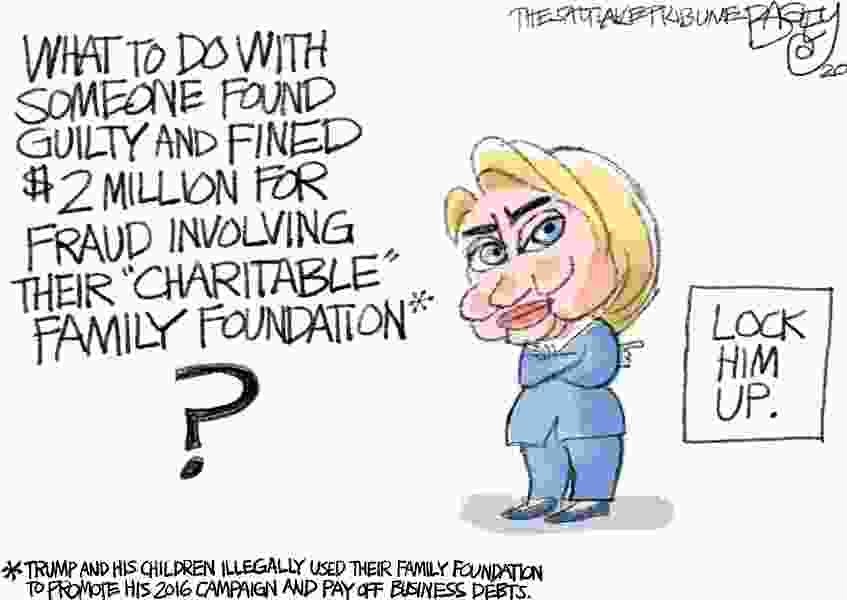 Bagley Cartoon: Do the Crime, Do the Time. Unless ...