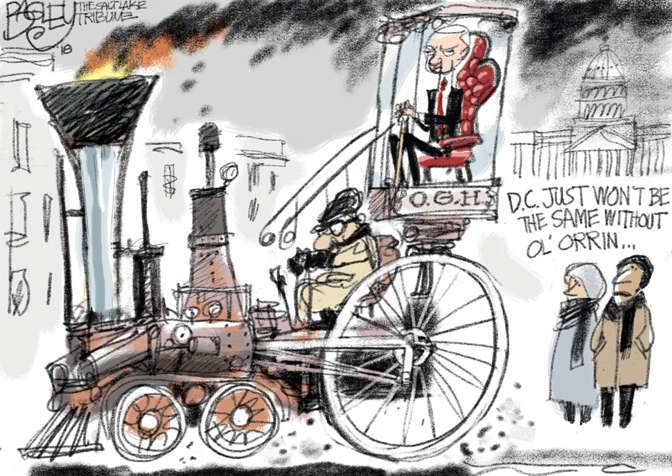 This Pat Bagley cartoon appears in The Salt Lake Tribune on Wednesday, Jan. 3, 2018.