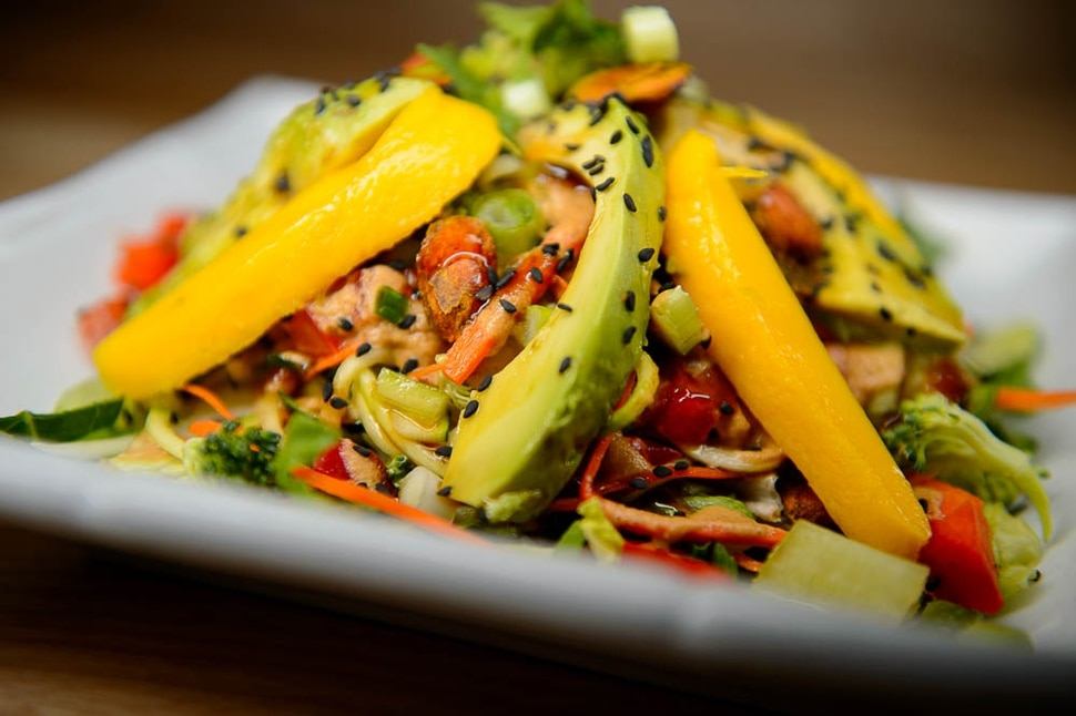 (Trent Nelson | The Salt Lake Tribune) The stir fry at Rawtopia Living Cuisine, where most dishes are packed with raw vegetables.