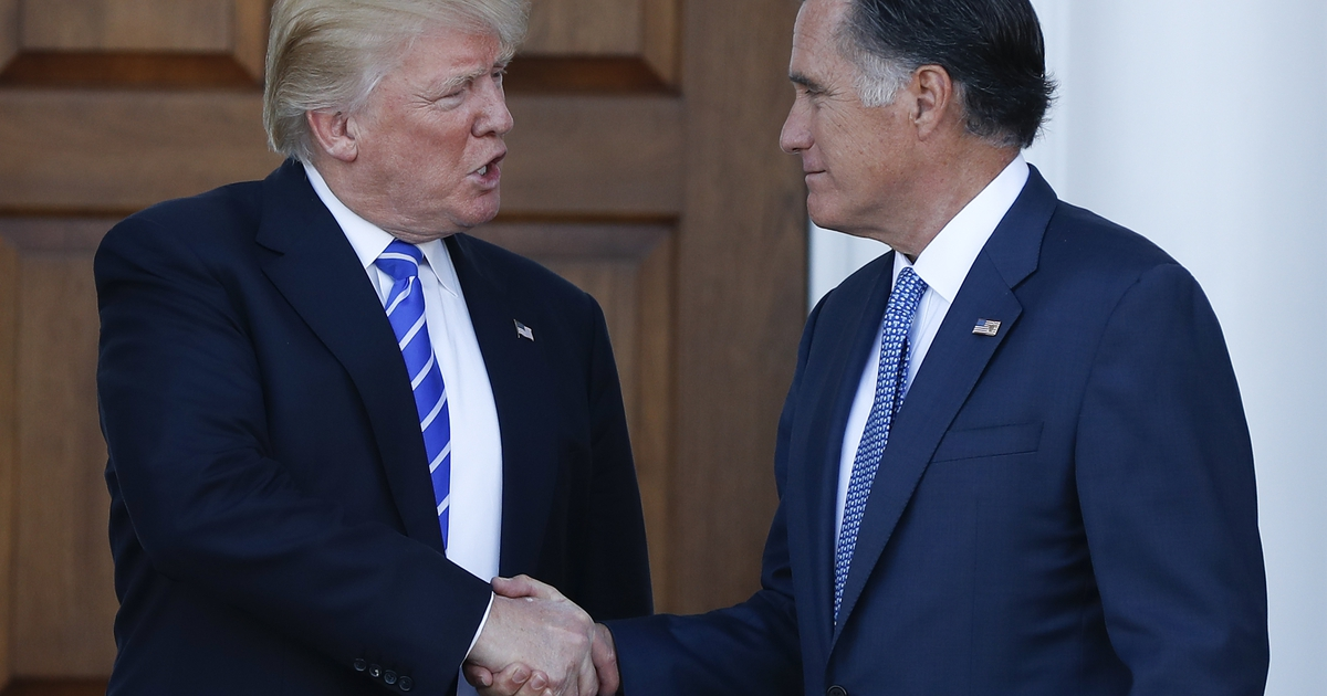 He used to be the face of the 'Never Trump' movement. Now a candidate, Mitt Romney appears to embrace Trump presidency.
