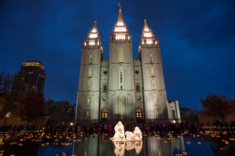 (Rick Egan   The Salt Lake Tribune) The Lights on Temple Square are switched on, Friday, Nov. 23, 2018.