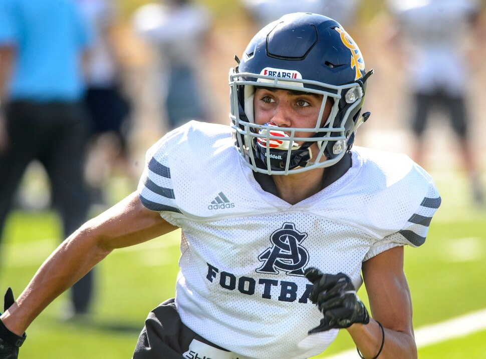 (Steve Griffin   The Salt Lake Tribune) Summit Academy's Gavin Davey practices on the school's football field in Bluffdale, Utah Wednesday September 13, 2017.
