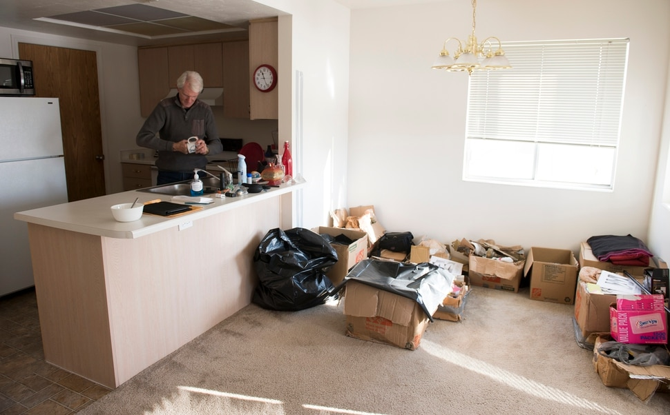(Leah Hogsten | The Salt Lake Tribune) Jim Lamm is about to become homeless and worries about how he will make January's rent on his apartment. Lamm has reached out to over a dozen agencies for help, but has been told that the agencies can't help him until he becomes homeless.