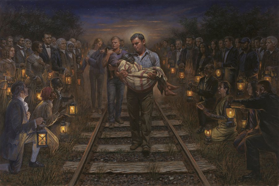 Underground Railroad Pictures A Station Of The: Controversial Utah Artist's New Painting Pays Tribute To