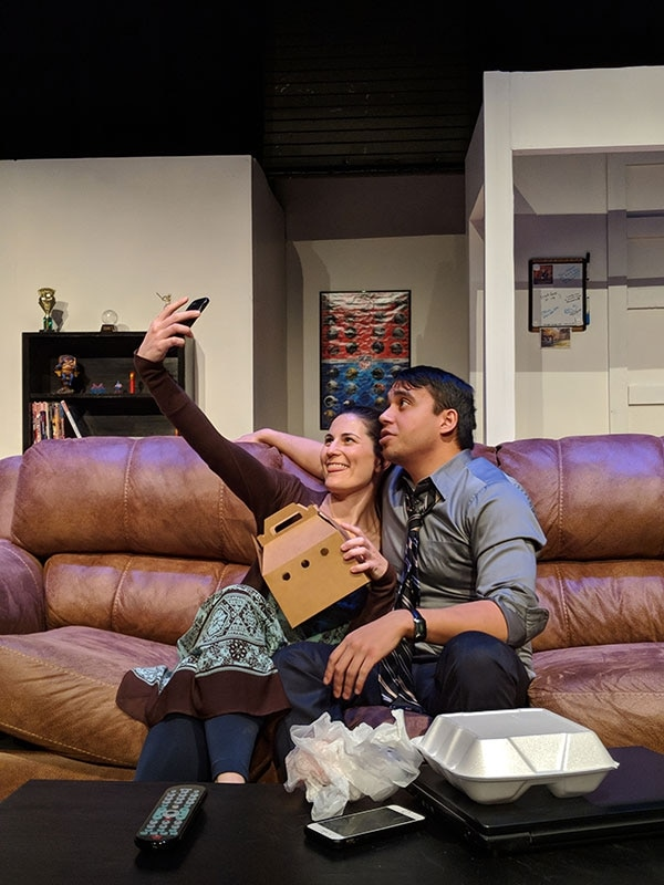 (Courtesy photograph by JayC Stoddard) Andrea Peterson as Emily and John Valdez as Ben in Utah Repertory Theater's