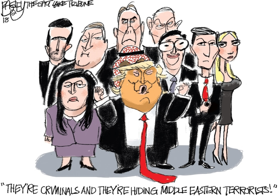 "(Pat Bagley | The Salt Lake Tribune) This Pat Bagley cartoon, titled ""Friends With Emoluments,"" appears in The Salt Lake Tribune on Tuesday, Oct. 23, 2018."