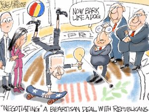Negotiating With Terrorists | Pat Bagley