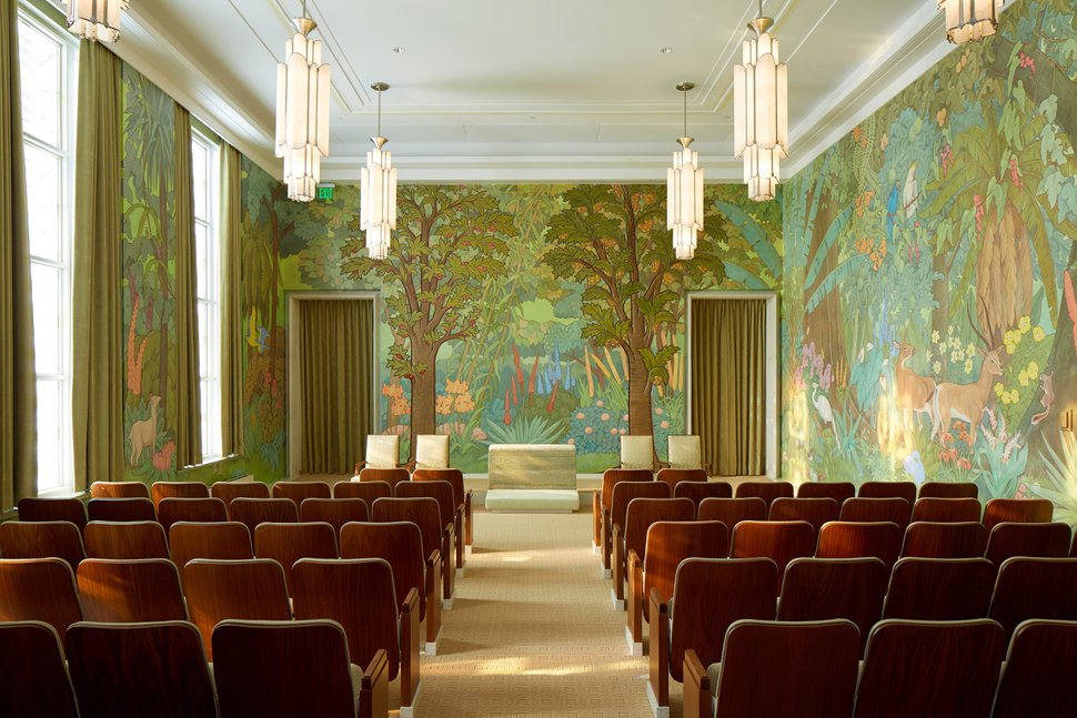 (Photo courtesy of The Church of Jesus Christ of Latter-day Saints) The garden room in the Idaho Falls Idaho Temple.