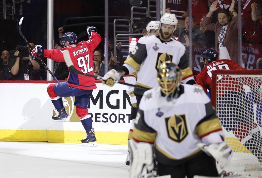 47484c147ce Capitals beat Golden Knights 3-1 to take 2-1 lead in Stanley Cup Final