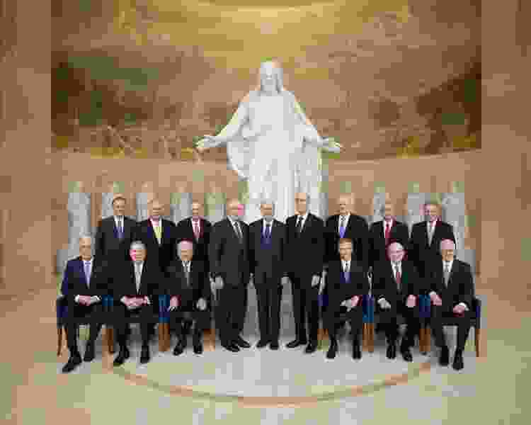 Photo captures history — all 15 top Latter-day Saint leaders in Rome for temple opening