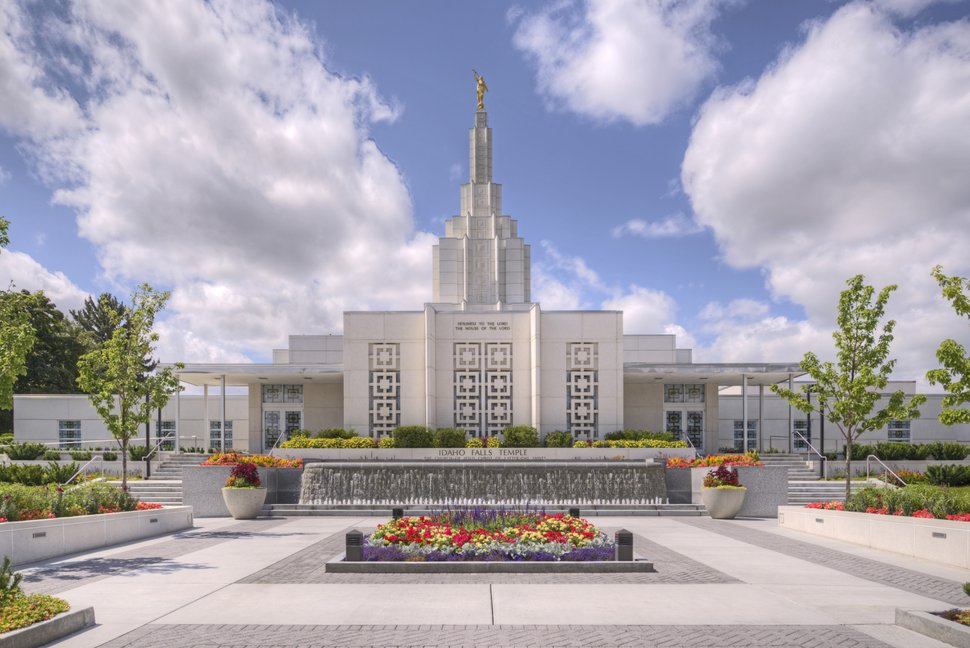 (Photo courtesy of The Church of Jesus Christ of Latter-day Saints) The Idaho Falls Temple.
