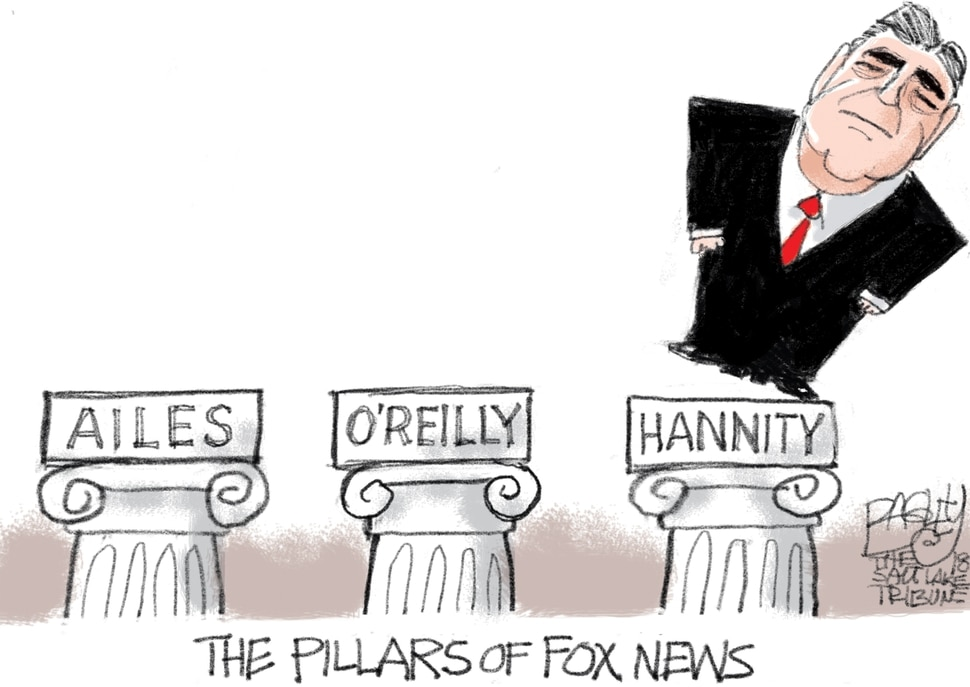 This Pat Bagley cartoon appears in The Salt Lake Tribune on Tuesday, April 17, 2018.