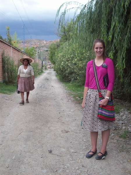 (Courtesy of Maddy Cicotte) Maddy Cicotte on her mission for The Church of Jesus Christ of Latter-day Saints in Bolivia in 2015-2016