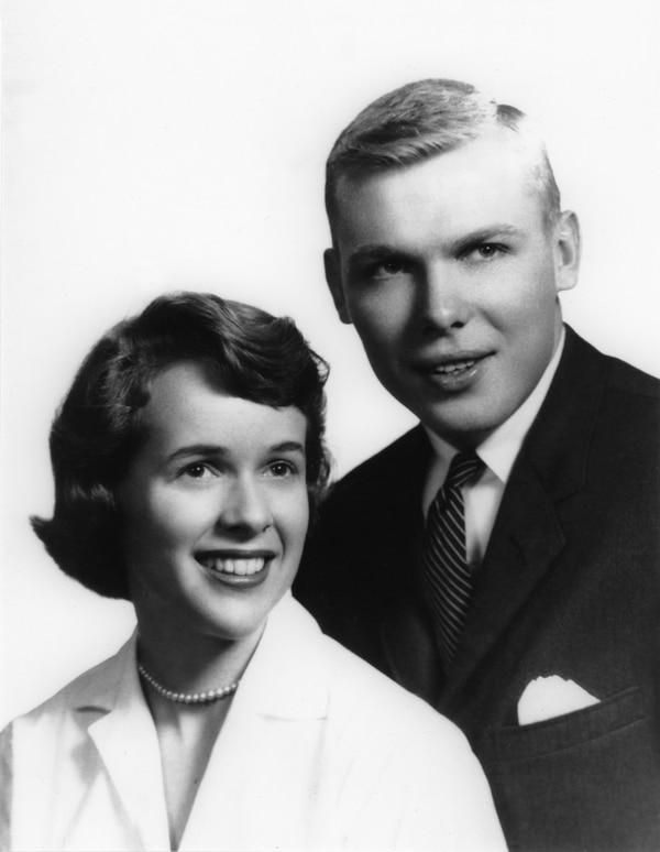 (photo courtesy Huntsman family) Jon and Karen Huntsman were married in June 1959.