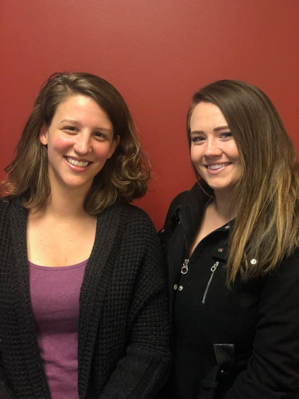 Lucy Izard and Natasha Fjeldsted are students in the University of Utah Master of Social Work Program