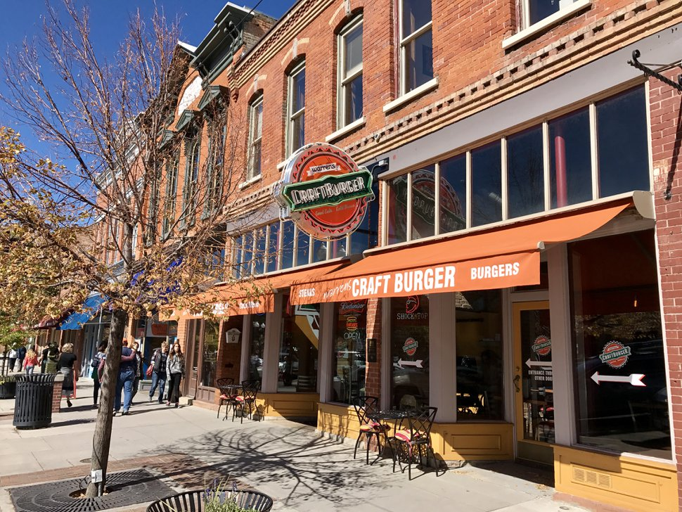 (Heather May | Special to The Tribune) Warrens Craft Burger on Historic 25th Street in Ogden.