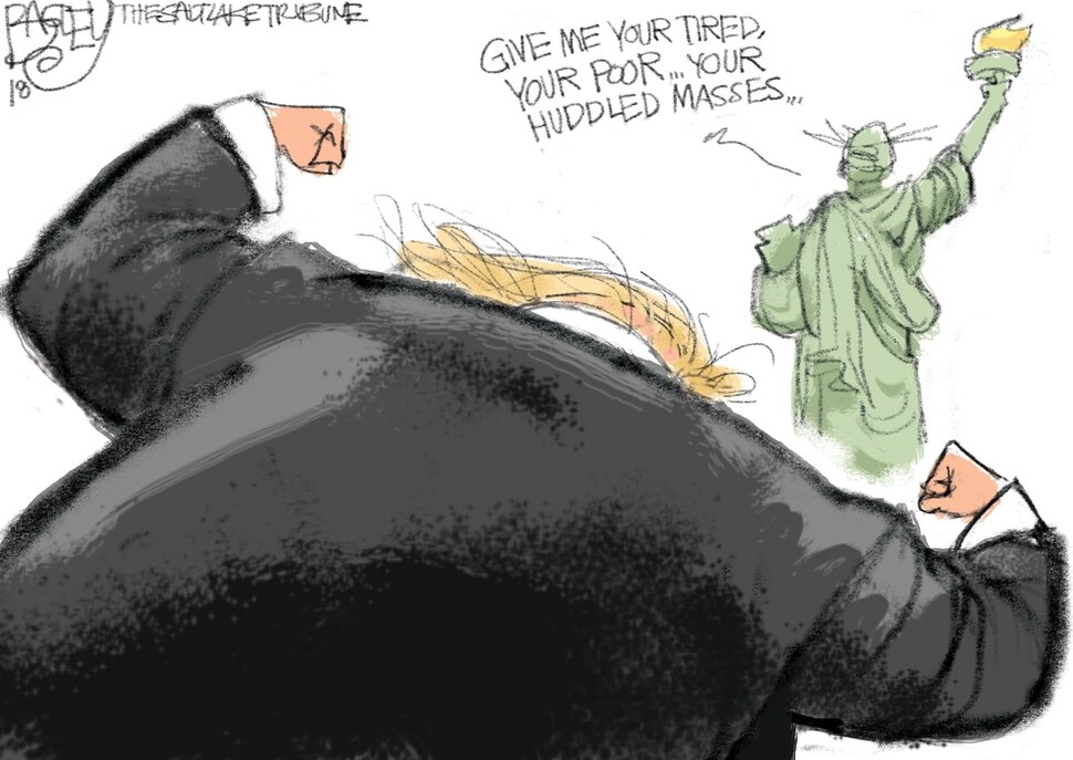 (Pat Bagley | The Salt Lake Tribune) This cartoon appears in the Sunday, Feb. 11, 2018, Salt Lake Tribune.