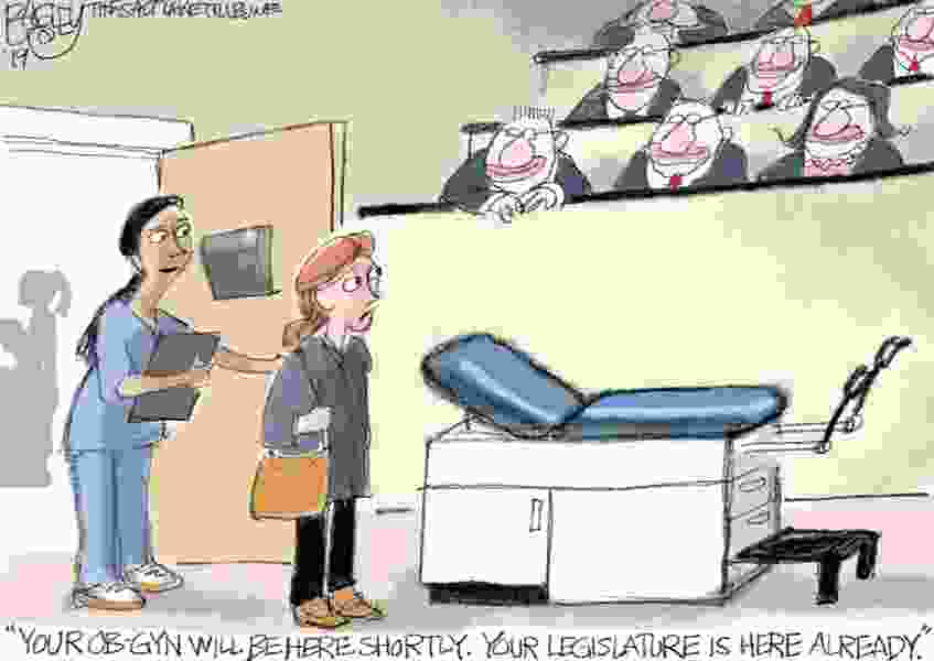 Bagley Cartoon: Between a Woman and Her Doctor