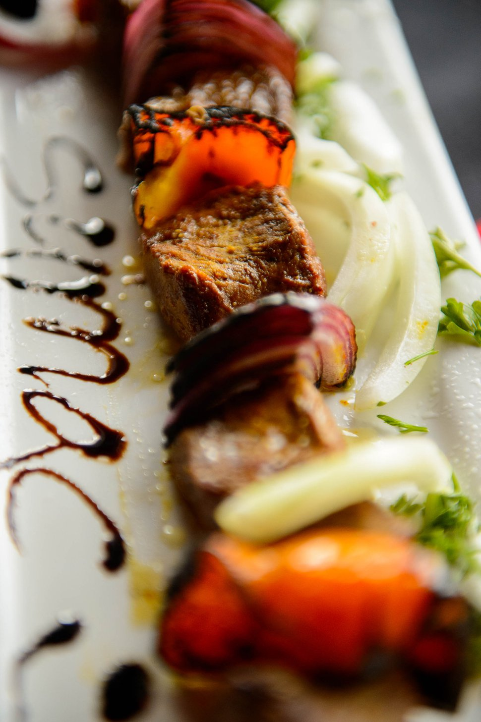 (Trent Nelson | The Salt Lake Tribune) Shish Kabob at Sumac Cafe, a new Persian Restaurant in Cottonwood Heights on Friday May 31, 2019.