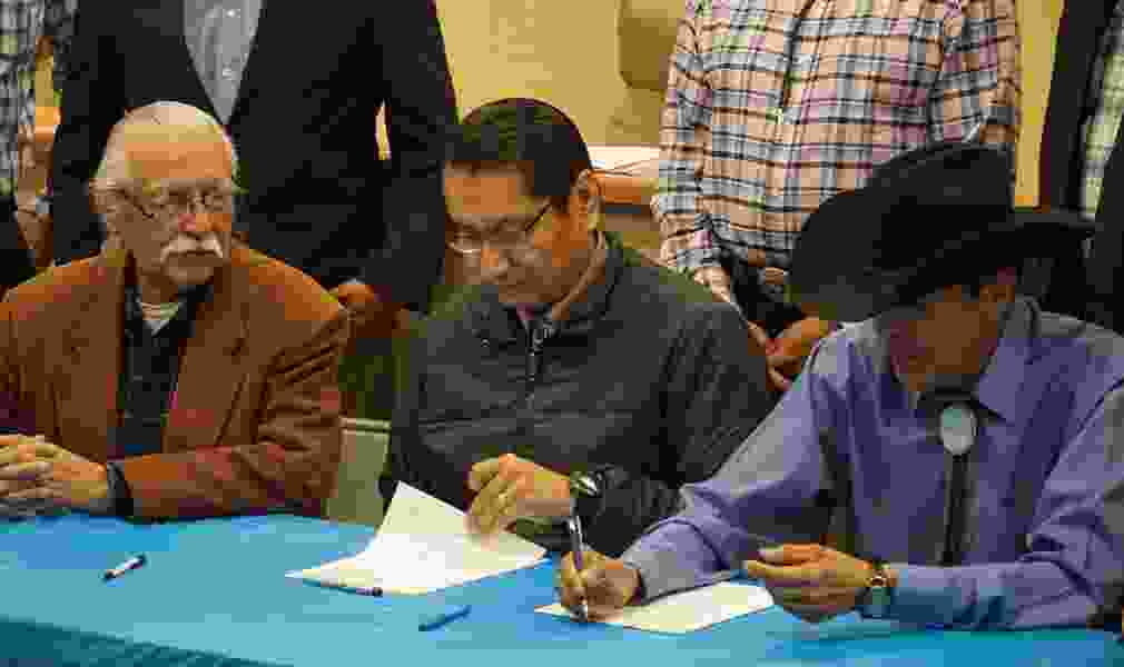 Navajo Nation signs road maintenance agreement with San Juan County to improve rural bus routes