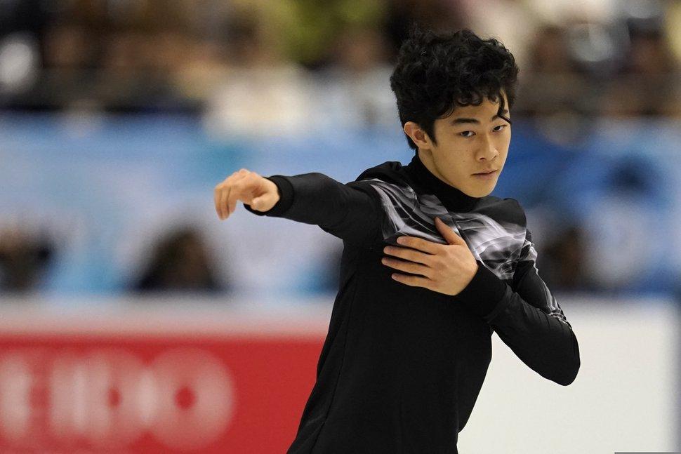 (Toru Hanai | AP file photo) Nathan Chen of the United Statesperforms his men's free skating routine during the ISU World Team Trophy Figure Skating competition Friday, April 12, 2019 in Fukuoka, southwestern Japan.