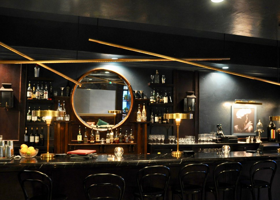 (Courtesy photo) The new glass partitions at Bar George.