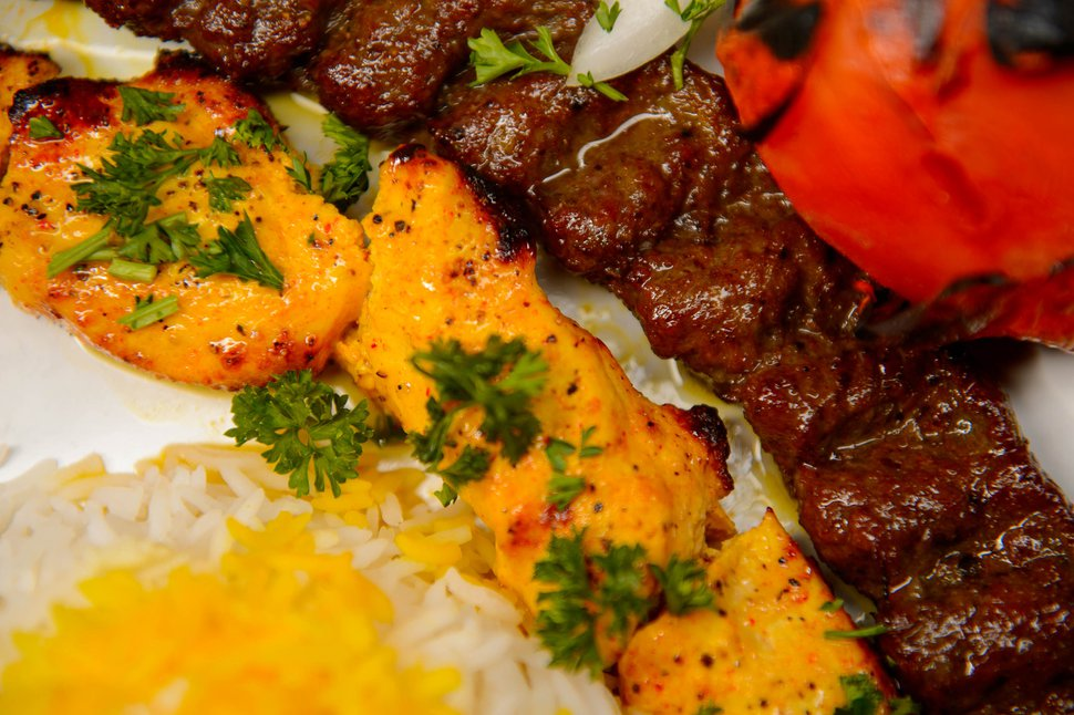 (Trent Nelson | The Salt Lake Tribune) Vaziri Kabob at Sumac Cafe, a new Persian Restaurant in Cottonwood Heights on Friday May 31, 2019.