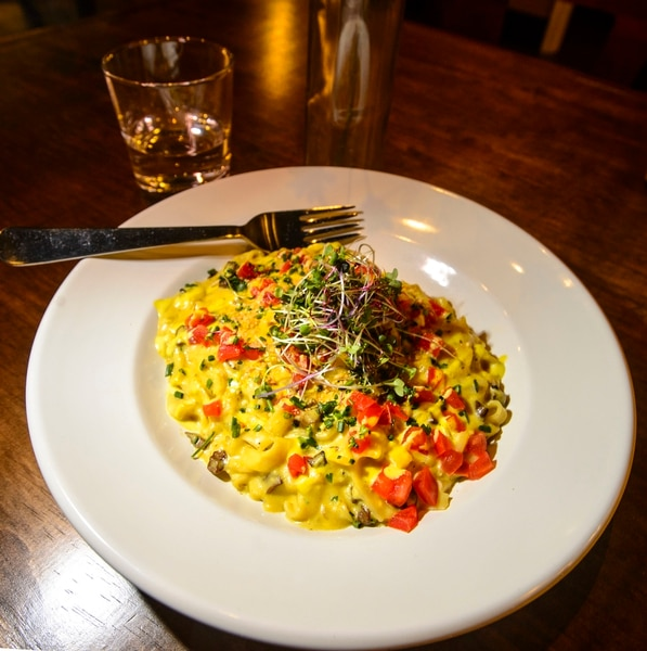 (Steve Griffin | The Salt Lake Tribune) The bacon carbonara at Seasons Plant Based Bistro.