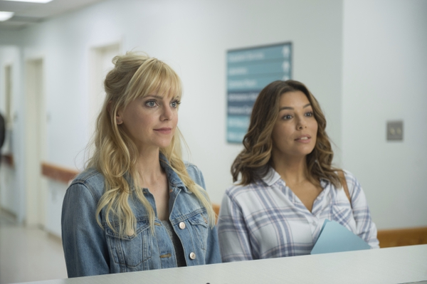 This image released by Metro Goldwyn Mayer Pictures/Pantelion Films shows Anna Faris, left, and Eva Longoria in a scene from
