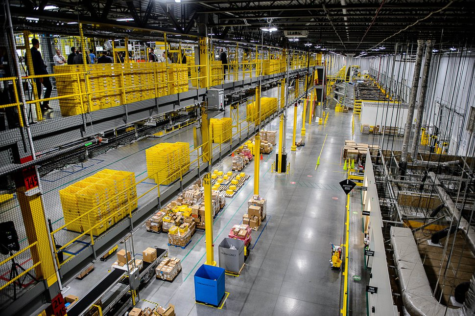 (Trent Nelson | Tribune file photo) Amazon's fulfillment center in Salt Lake City on April 17, 2019.