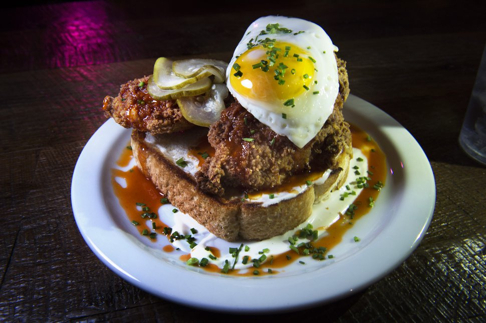 (Scott Sommerdorf | The Salt Lake Tribune) The Fried Chicken Toast at Purgatory Bar.