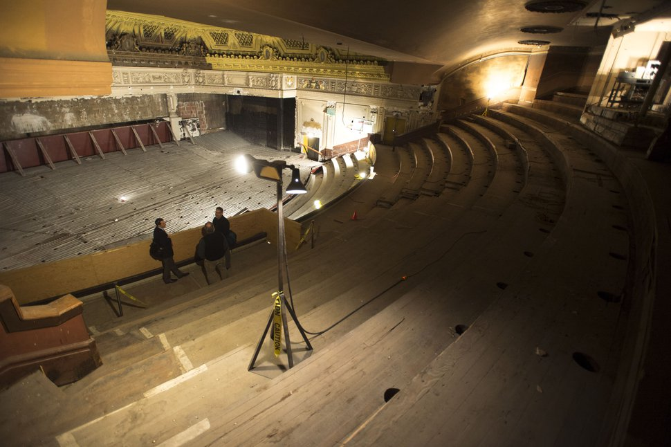 (Steve Griffin | Tribune file photo) Interior of the aging Utah Theater, as seen in December 2015.