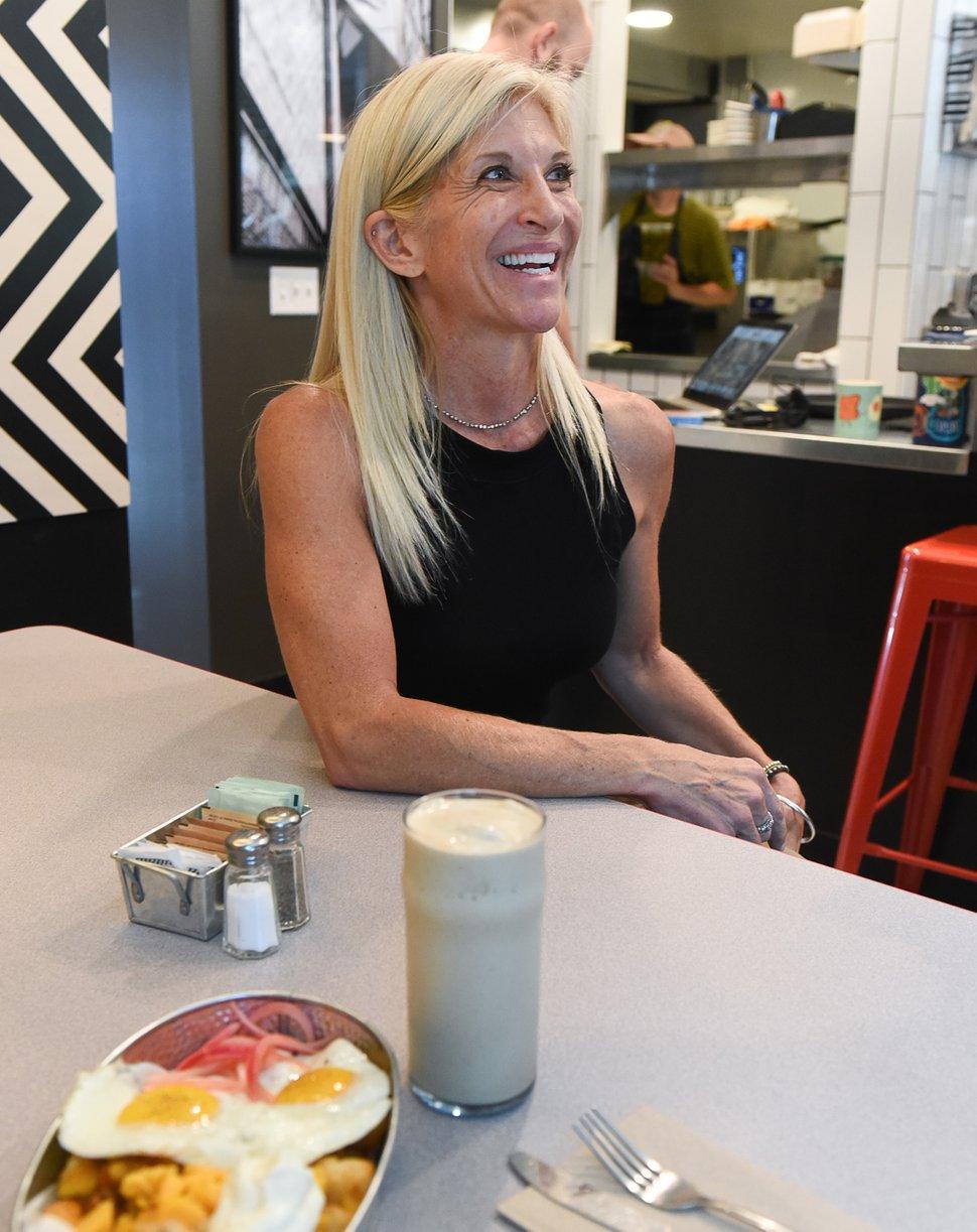 (Francisco Kjolseth   The Salt Lake Tribune) Missy Greis, owner of Publik Ed's, the fourth store for the Salt Lake City Publik Coffee chain talks about the newest location near the University of Utah.