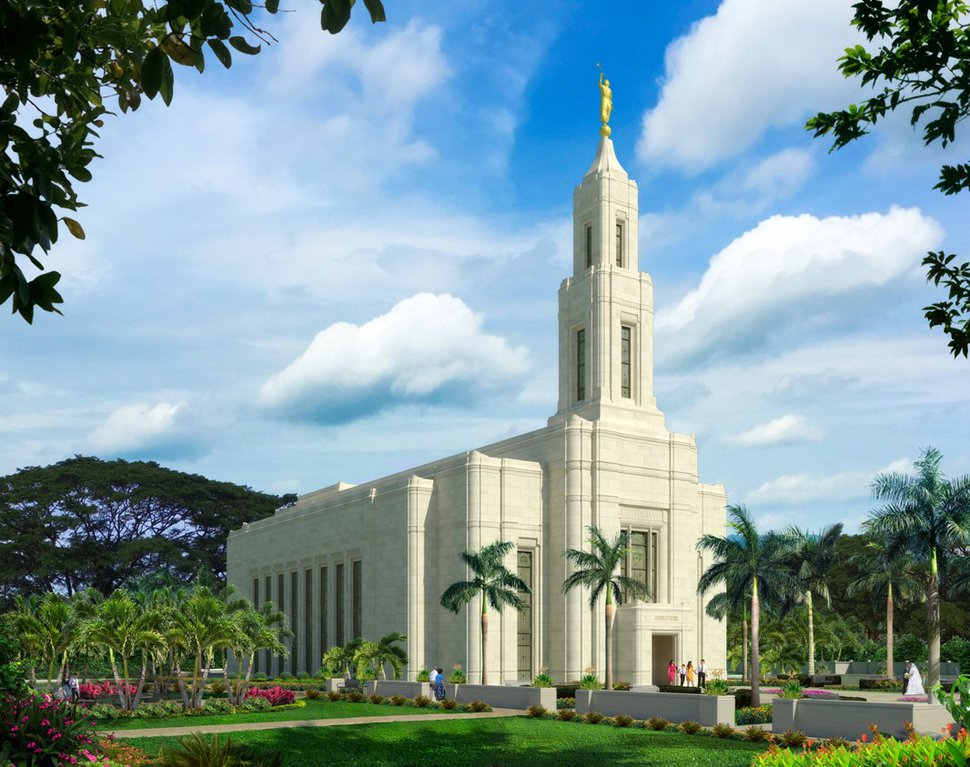 (Courtesy photo | The Church of Jesus Christ of Latter-day Saints) Urdaneta Philippines Temple rendering.