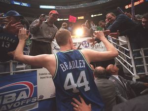 (Rick Egan   The Salt Lake Tribune) Shawn Bradley leaves the Delta Center after defeating the Jazz in the first round of the NBA Playoffs in 2001.