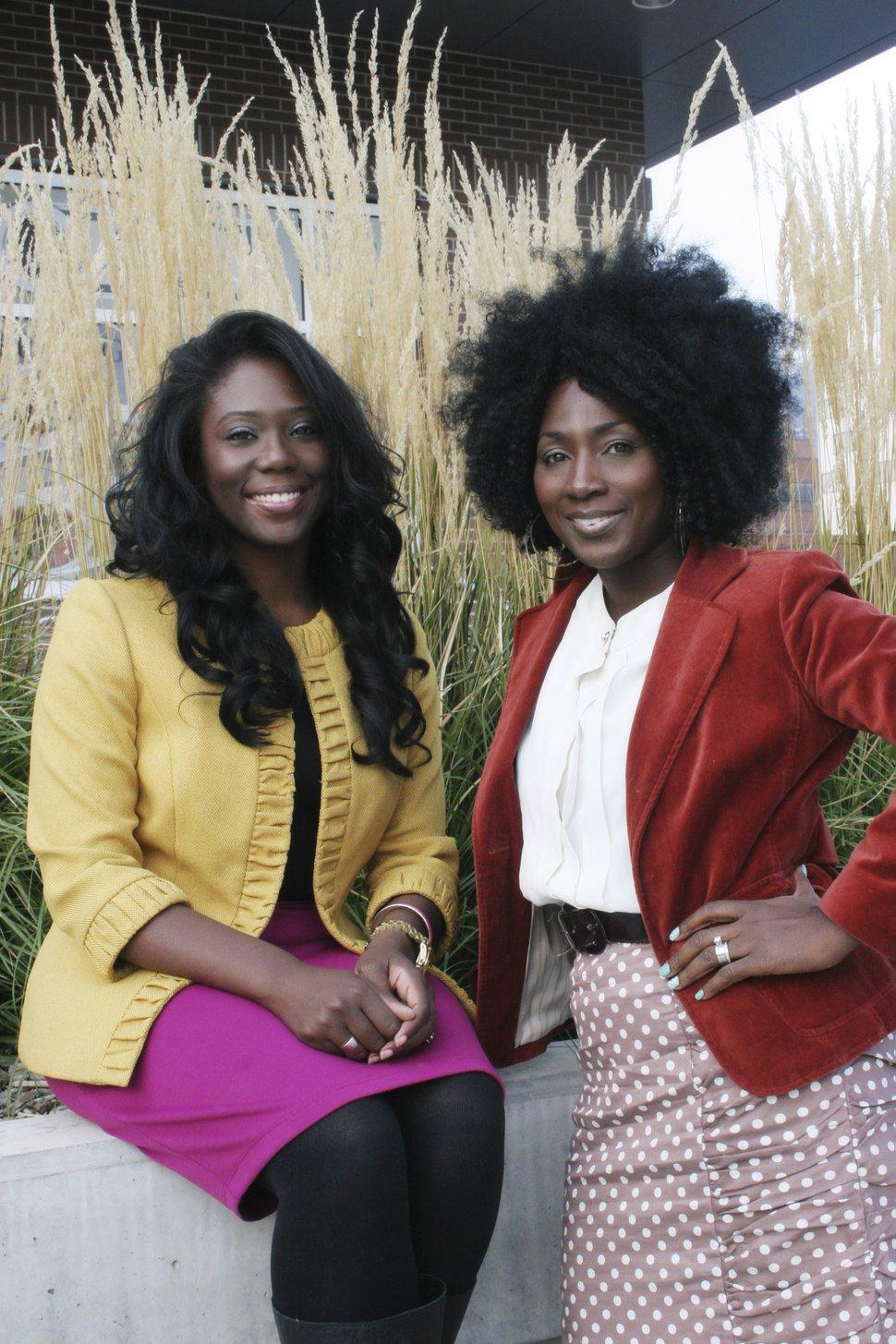 (Photo courtesy of Mama Rine Clark) Zandra Vranes, left, Tamu Smith are