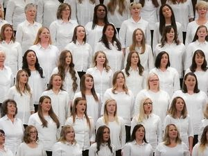 (Trent Nelson   The Salt Lake Tribune)  A Relief Society choir sings at General Conference in fall 2017. The Church of Jesus Christ of Latter-day Saints recently sent out a survey to members on a range of women's issues.