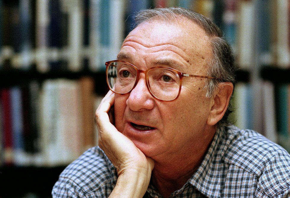 (Associated Press file photo) Playwright Neil Simon, seen here in 1994, died Sunday, Aug. 26, 2018, at the age of 91. He was famous for such Broadway hits as