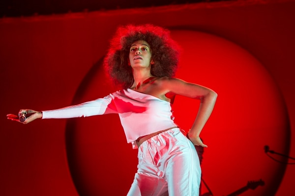 Solange performs at the Okeechobee Music and Arts Festival on Saturday, March 4, 2017, in Okeechobee, Fla. (Photo by Amy Harris/Invision/AP)